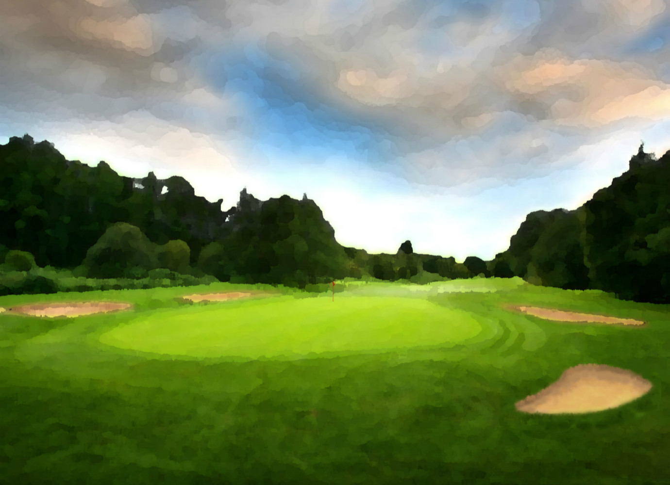 Landscape of Golf Course 01